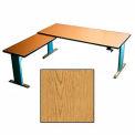 Accella™ Height Adjustable Right Return Desk - Oak