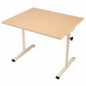 """Knob Adjusted Wheelchair Accessible Table - 36""""L x 30""""W Maple"""