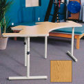 "Knob Adjusted Comfort Curve Therashape Table - 85""L x 38""W Oak"
