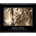 "Motivational Poster - Success - Sepia-tone - Framed - 30"" x 24"""