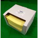 "Global Industrial Hazmat Pad, Heavy Weight, 15"" x 18"", Yellow, 100/Pack"