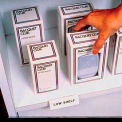 "Label Holder, Hi-Lo, 3/4"" x 4"", Clear, Self Adheres (10 pcs/pkg)"