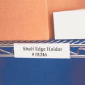 "Wire Shelving Label Holder, 6"", Clear"