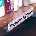 "Shelf Clip Label Holder, 7/8"" x 6"", Clear, For 3/4"" Thick Shelving"