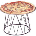Contempo™ Drum Pizza Stand, 9X7X7, Black Wrought Iron