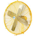 "Airmaster Fan 24"" Channel Mount Yellow Safety Fan - 2 Speed Drop Cord Switch 10735K 1/3 HP 5280 CFM"