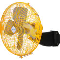 "Airmaster Fan 24"" Beam Mount Yellow Safety Fan - 2 Speed Drop Cord Switch 10750K 1/3 HP 5280 CFM"
