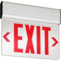 Lithonia EDG 1 R EL M6 Red Surface Mount Edge-Lit Exit w/ LED Lamps, Nickel-Cadmium Battery