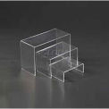 "Display Riser, Set Of 3, 5-1/4""- 7-1/4"" L x 4"" W x 2-1/5""- 4-1/2"" H, Acrylic, Clear"