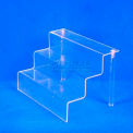 "Riser Set, 9"" L x 6"" W x 6"" H, 1/8"" Thickness, Acrylic, Clear"