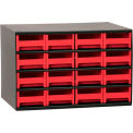 "Akro-Mils® Steel Small Parts Storage Cabinet 17""W x 11""D x 11""H W/ 16 Red Drawers"