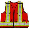 Viking® 4915R Hi-Vis All-Trades 1000D Safety Vest, Red, L