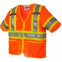Viking® U6155O Hi-Vis Class 3 Safety Vest, Orange, M