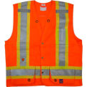 Viking® U6195O Hi-Vis Double Stitched Surveyor Safety Vest, Orange, XL