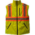 Viking® U6205G Hi-Vis Fleece Lined Safety Vest, Green, 2XL