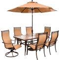 Hanover Monaco 7-Piece Outdoor Dining Set with Umbrella