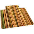 Bamboo Design Hard Floor Chairmat 36 x 48 w/ Lip, Crystal Edge