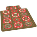 Floral Design Hard Floor Chairmat 36 x 48 w/ Lip, Crystal Edge