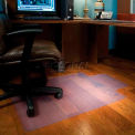 "Aleco® Office Chair Mat for Hard Floor -  45""W x 53""L, .110"" Thick with Lip  - Straight Edge"