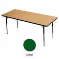 "Activity Table, 24"" X 36"", Rectangle, Juvenile Adj. Height, Green"