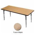 "Activity Table, 24"" X 48"", Rectangle, Juvenile Adj. Height, Fusion Maple - Pkg Qty 2"