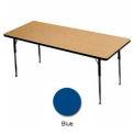 "Activity Table, 30"" X 72"", Rectangle, Juvenile Adj. Height, Blue"