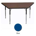 "Activity Table, 30"" x 30"" x 60"", Trapezoid, ADA Compliant Adj. Height, Blue"