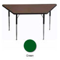 "Activity Table, 30"" x 30"" x 60"", Trapezoid, Juvenile Adj. Height, Green"
