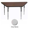 "Activity Table - Trapezoid - 30"" X 30"" X 60"", Standard Adj. Height, Gray Nebula"