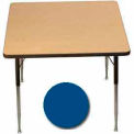 "Activity Table, 36"" x 36"", Square, Juvenile Adj. Height, Blue"
