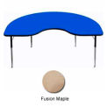 "Activity Table, 48"" x 72"", Kidney, Standard Adj. Height, Fusion Maple"