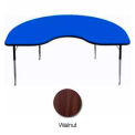 "ADA Activity Table -  Kidney - 48"" x 72"" - Adj. Height - Walnut"