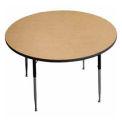 "Activity Table - Round -  48"" Diameter,  Standard Adj. Height, Light Oak"