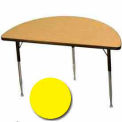 "Activity Table, 24"" X 48"", Half-Round, Juvenile Adj. Height, Yellow"