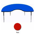 "Activity Table, 48"" x 96"", Kidney, Standard Adj. Height, Red"