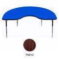 "Activity Table, 48"" x 96"", Kidney, ADA Compliant Adj. Height, Walnut"