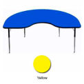 "Activity Table, 48"" x 96"", Kidney, ADA Compliant Adj. Height, Yellow"