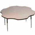 "ADA Activity Table - Flower -  60"" Diameter, Adj. Height, Gray Nebula"