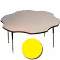 "Activity Table, 60"" Diameter, Flower, Juvenile Adj. Height, Yellow"