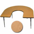 "Activity Table, 60"" x 66"", Horseshoe, Standard Adj. Height, Light Oak"