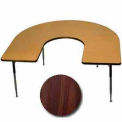 "Activity Table, 60"" x 66"", Horseshoe, Juvenile Adj. Height, Walnut"
