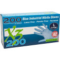 Ammex® Xtreme X3200 Powder-Free Industrial Grade Nitrile Gloves, Large, 200/Box, 10 Box/CS