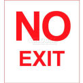 Photoluminescent No Exit Rigid PVC Sign, Non-Adhesive