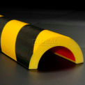 "Wide Pipe Bumper Guard, Type R2, 39-3/8""L x 2-7/8""W x 1-1/2""H, Yellow/Black"