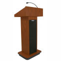 Executive Sound Column Lectern- Mahogany