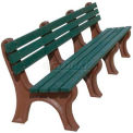 Polly Products Econo-Mizer 8 Ft. Backed Bench, Green Bench/Green Frame