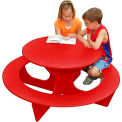 Polly Products Round Activity Table, Red Top/Red Frame