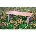 Polly Products Traditional 4 Ft. Flat Bench, Cedar Bench/Green Frame
