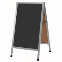 "Aarco Aluminum A-Frame Sidewalk Black Chalkboard - 24""W x 42""H"