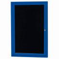 Aarco 1 Door Letter Board Cabinet Blue Powder Coat - 18